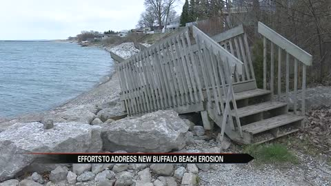 Efforts being made to address New Buffalo Beach Erosion